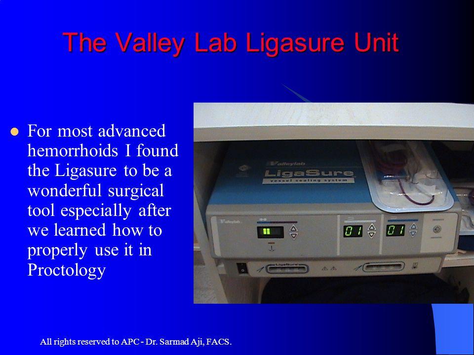 The Valley Lab Ligasure Unit
