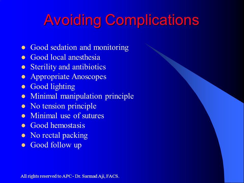 Avoiding Complications