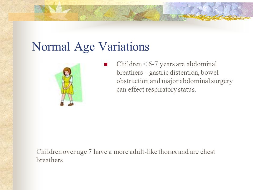 Normal Age Variations