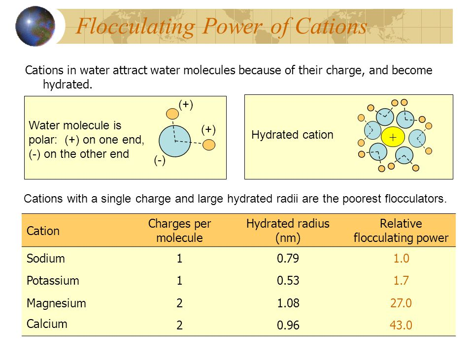 Flocculating Power of Cations