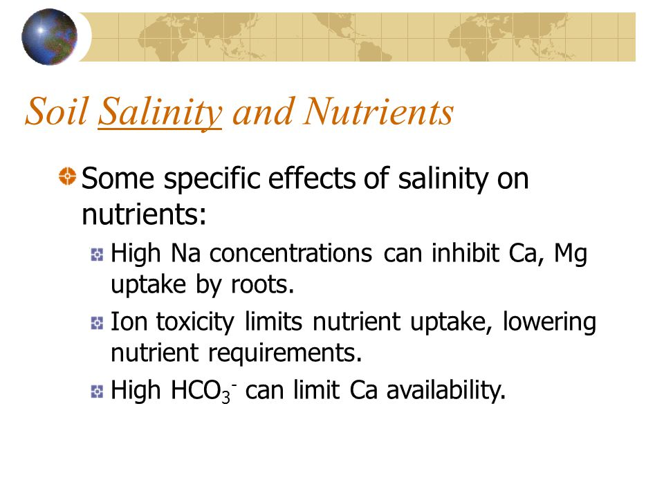 Soil Salinity and Nutrients