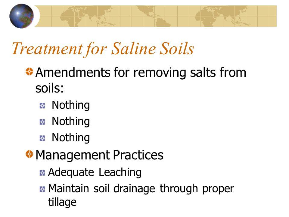 Treatment for Saline Soils