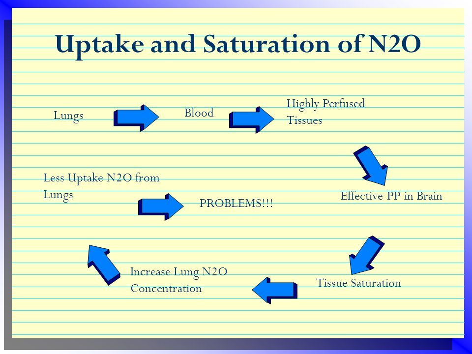 Uptake and Saturation of N2O