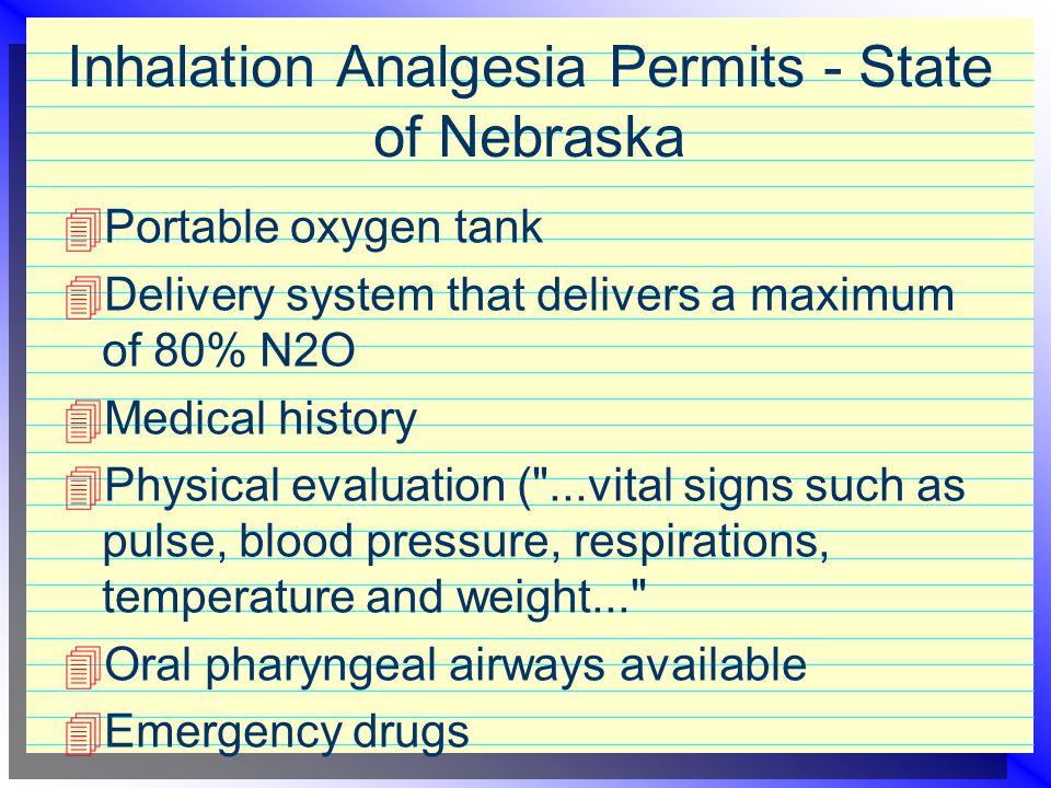 Inhalation Analgesia Permits - State of Nebraska