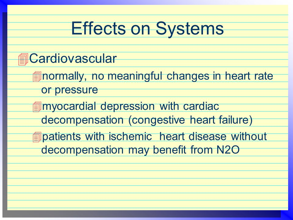 Effects on Systems Cardiovascular