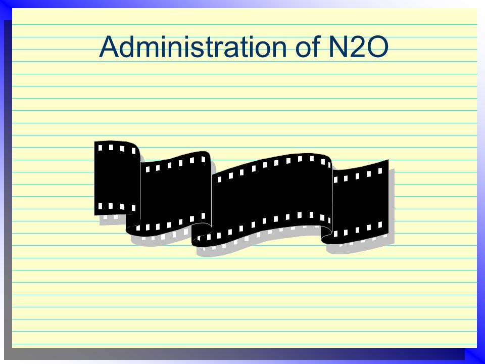Administration of N2O