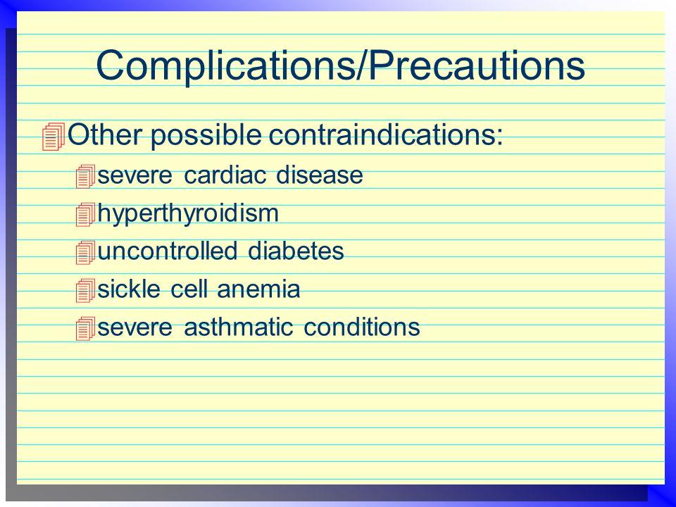 Complications/Precautions