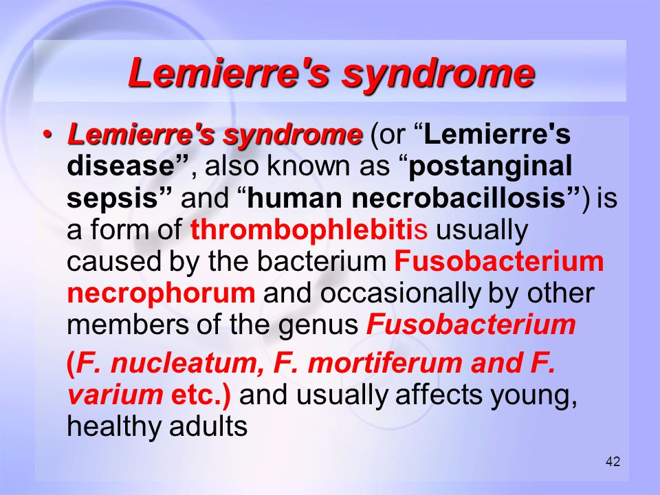Lemierre s syndrome