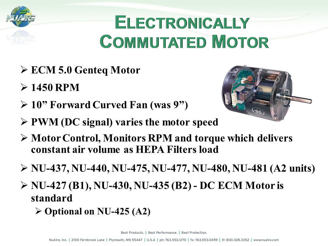 Use and service of dc ecm motors miscellaneous service for Electronically commutated motor ecm
