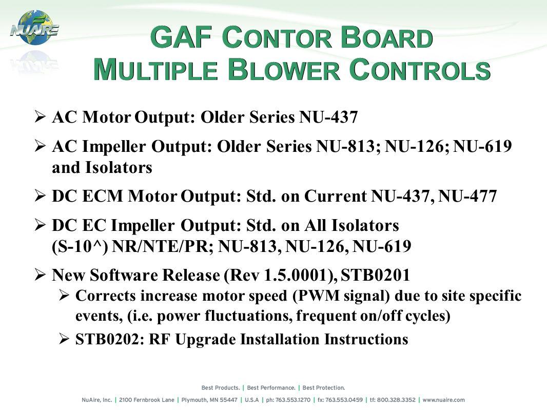 GAF CONTOR BOARD MULTIPLE BLOWER CONTROLS