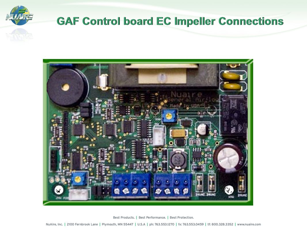 GAF Control board EC Impeller Connections