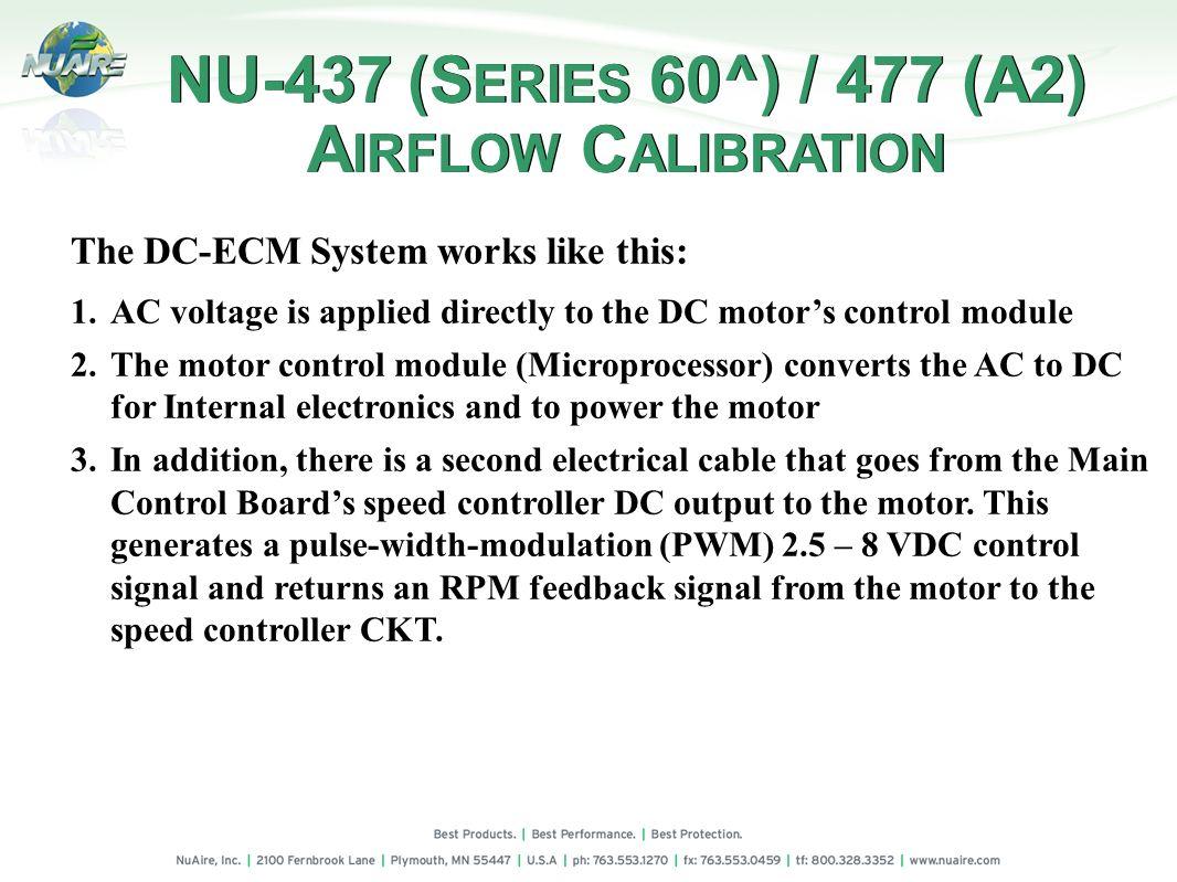 NU-437 (SERIES 60^) / 477 (A2) AIRFLOW CALIBRATION