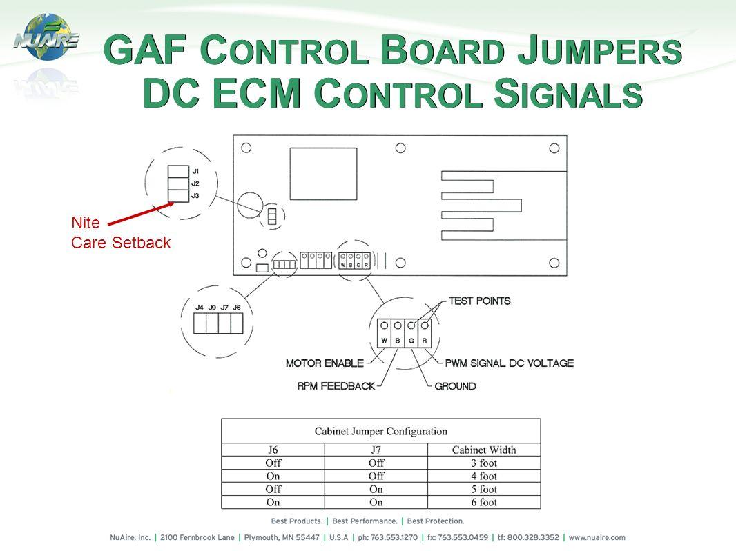 GAF CONTROL BOARD JUMPERS DC ECM CONTROL SIGNALS