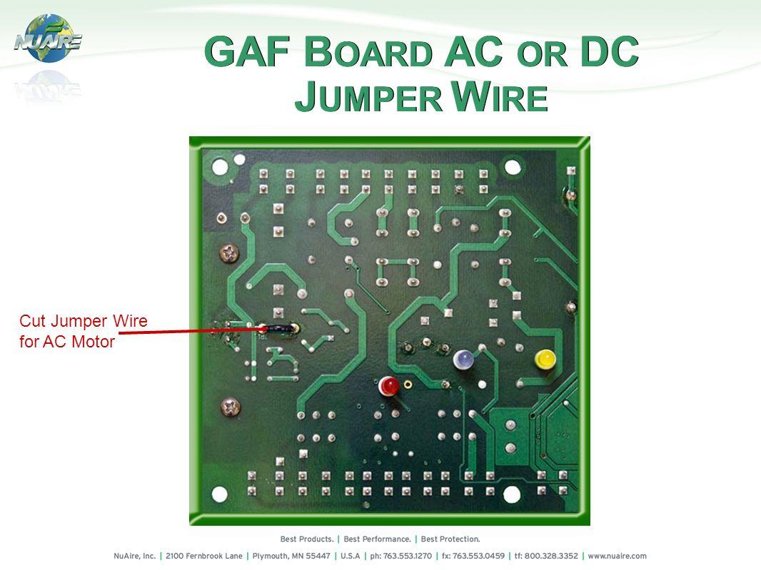 GAF BOARD AC OR DC JUMPER WIRE