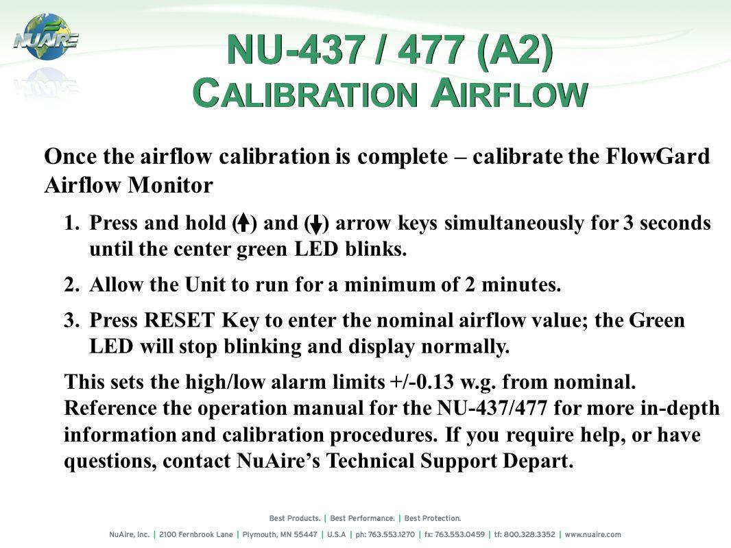 NU-437 / 477 (A2) CALIBRATION AIRFLOW