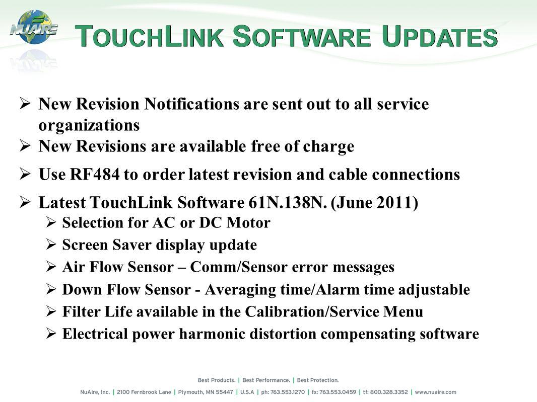 TOUCHLINK SOFTWARE UPDATES