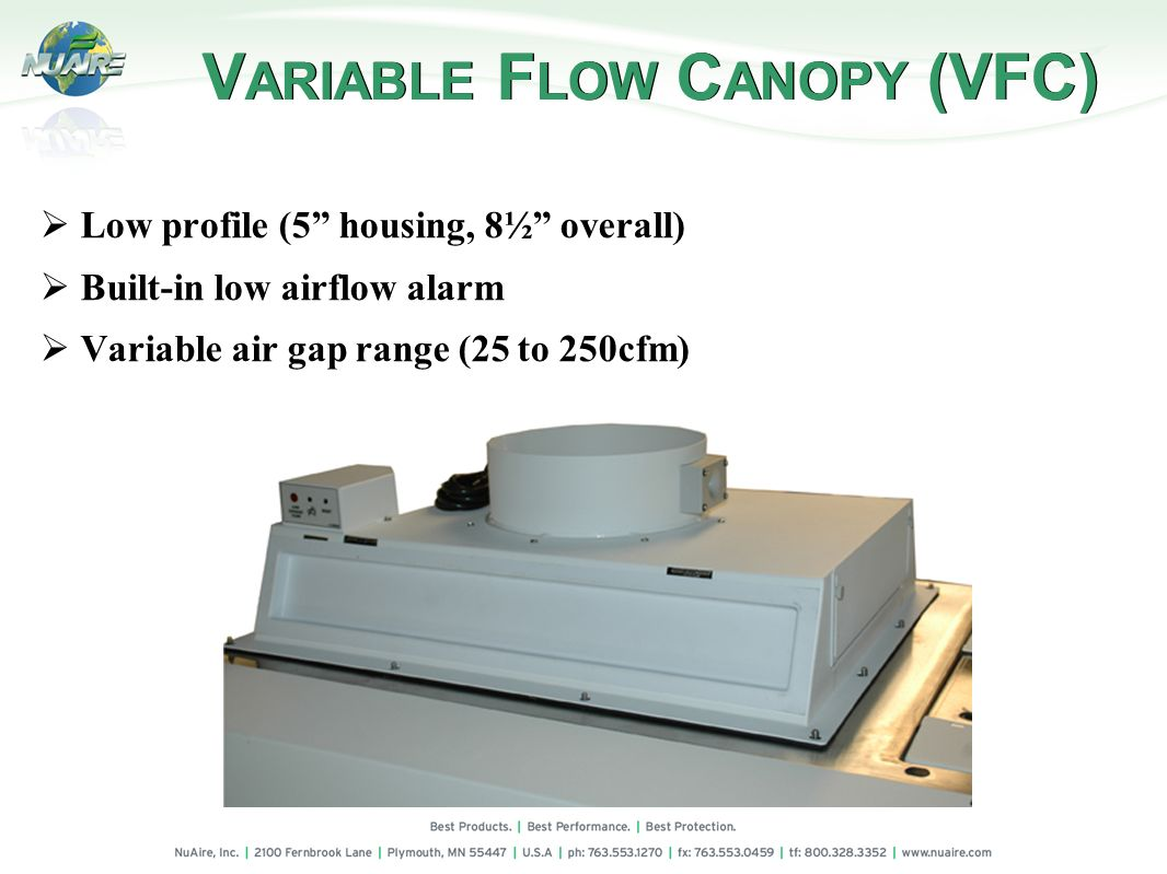 VARIABLE FLOW CANOPY (VFC)