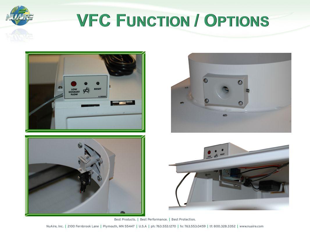 VFC FUNCTION / OPTIONS