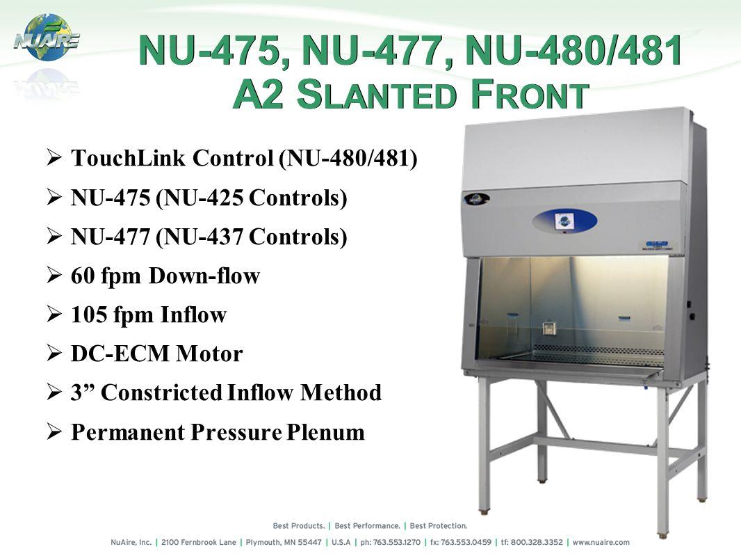 NU-475, NU-477, NU-480/481 A2 SLANTED FRONT