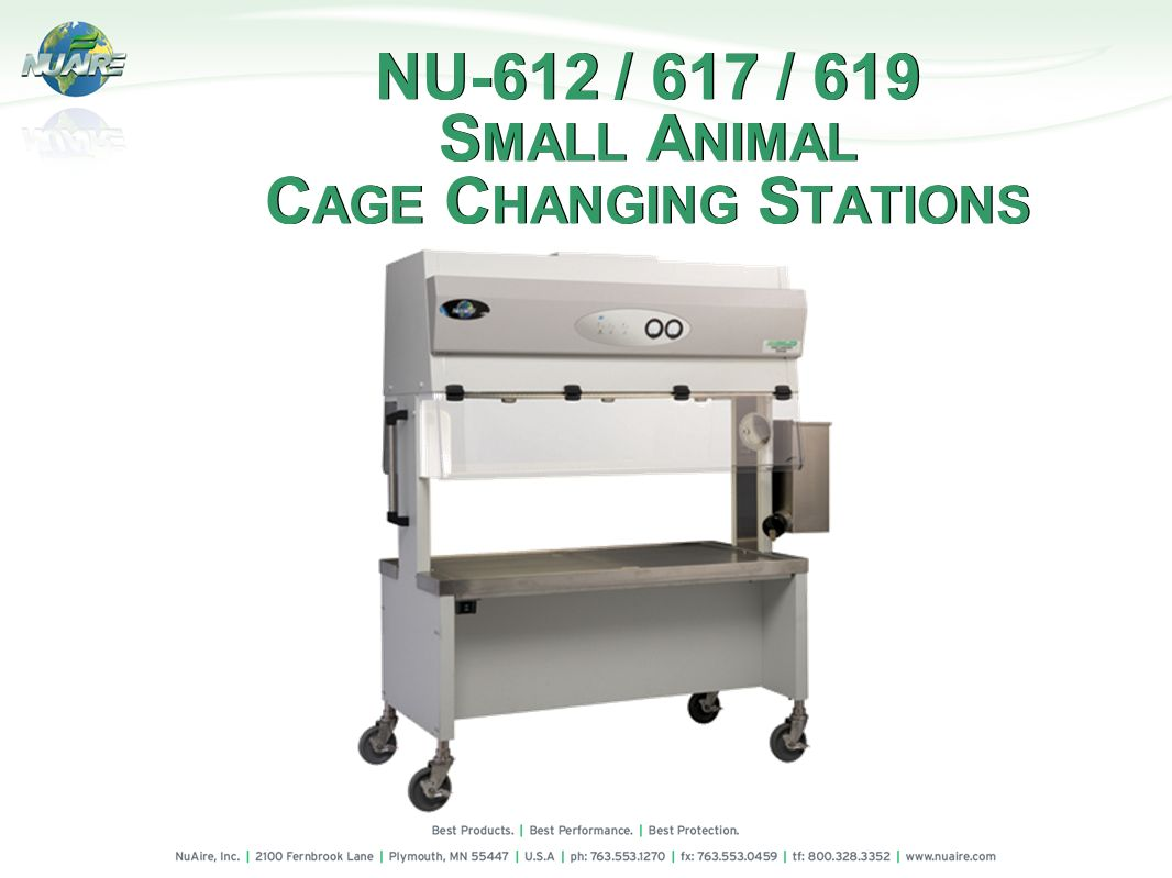 NU-612 / 617 / 619 SMALL ANIMAL CAGE CHANGING STATIONS