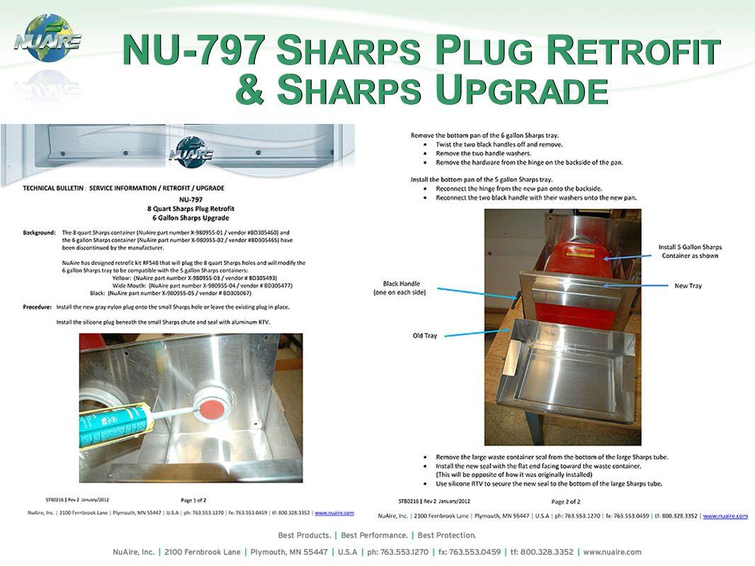 NU-797 SHARPS PLUG RETROFIT & SHARPS UPGRADE