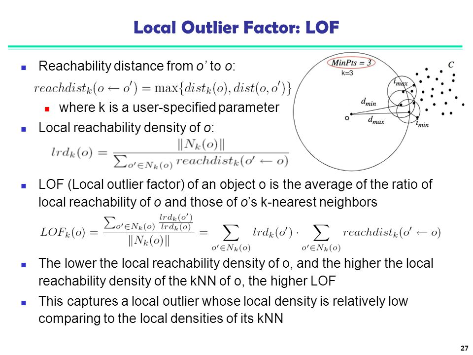 Local Outlier Factor: LOF