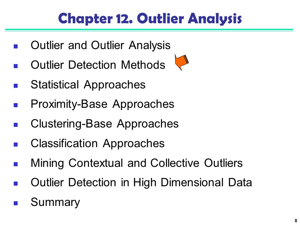 Chapter 12. Outlier Analysis