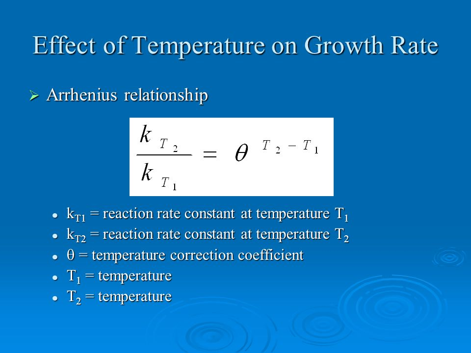 The effect of heat and growth