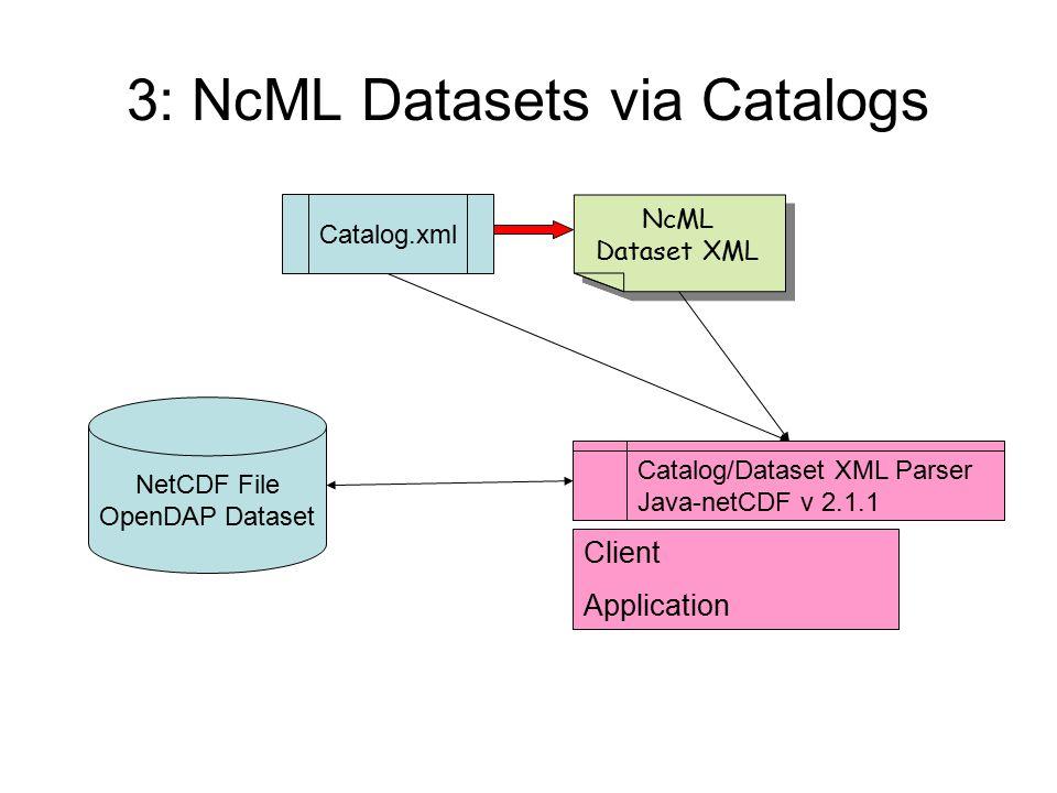 3: NcML Datasets via Catalogs