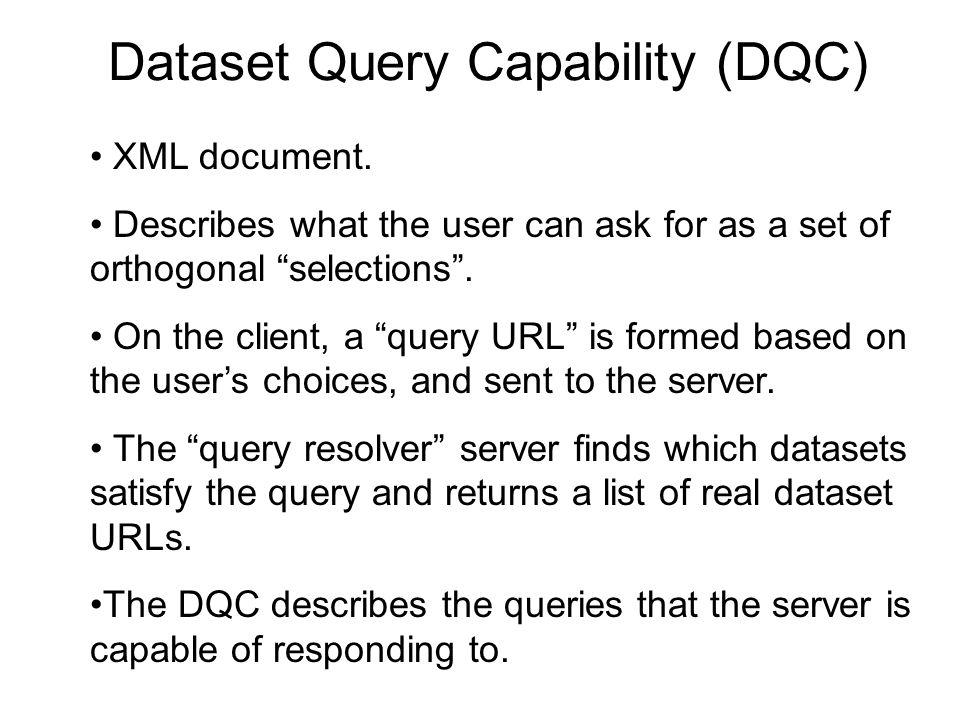 Dataset Query Capability (DQC)
