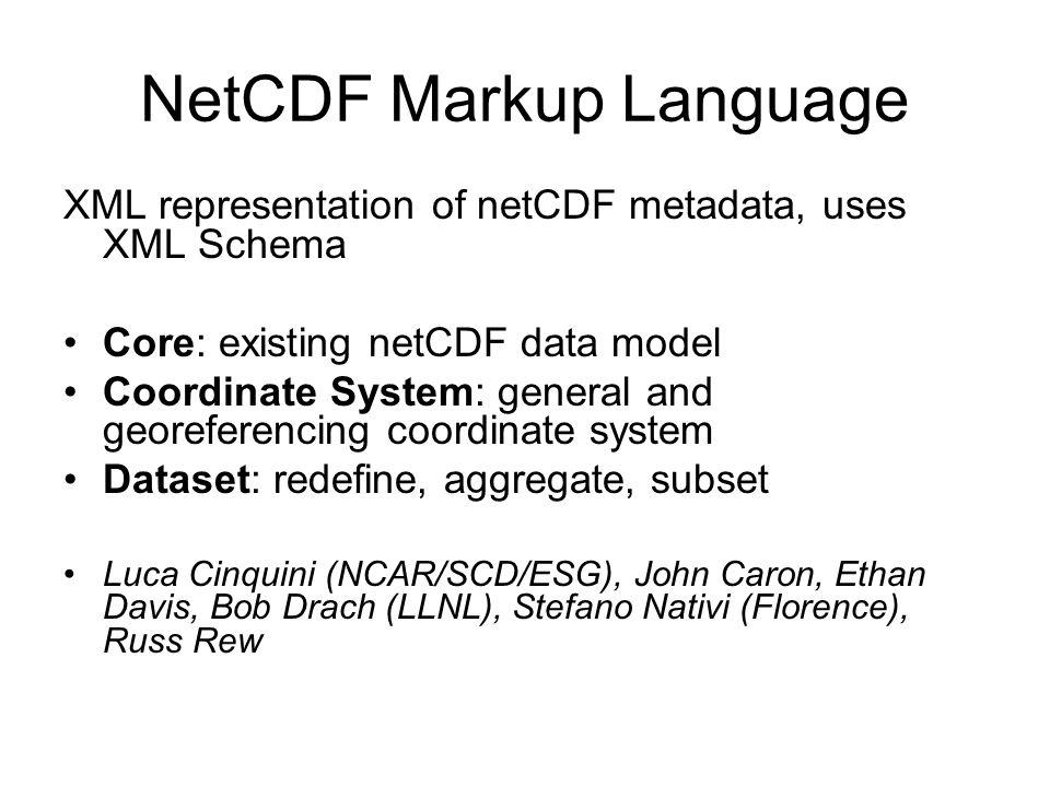 NetCDF Markup Language