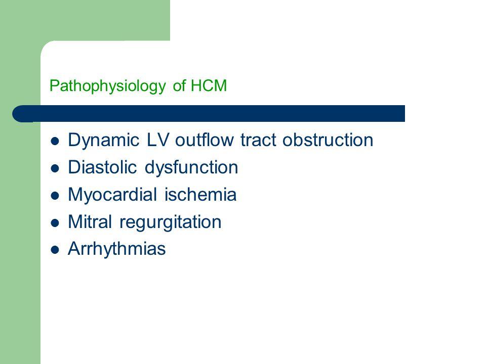 Pathophysiology of HCM