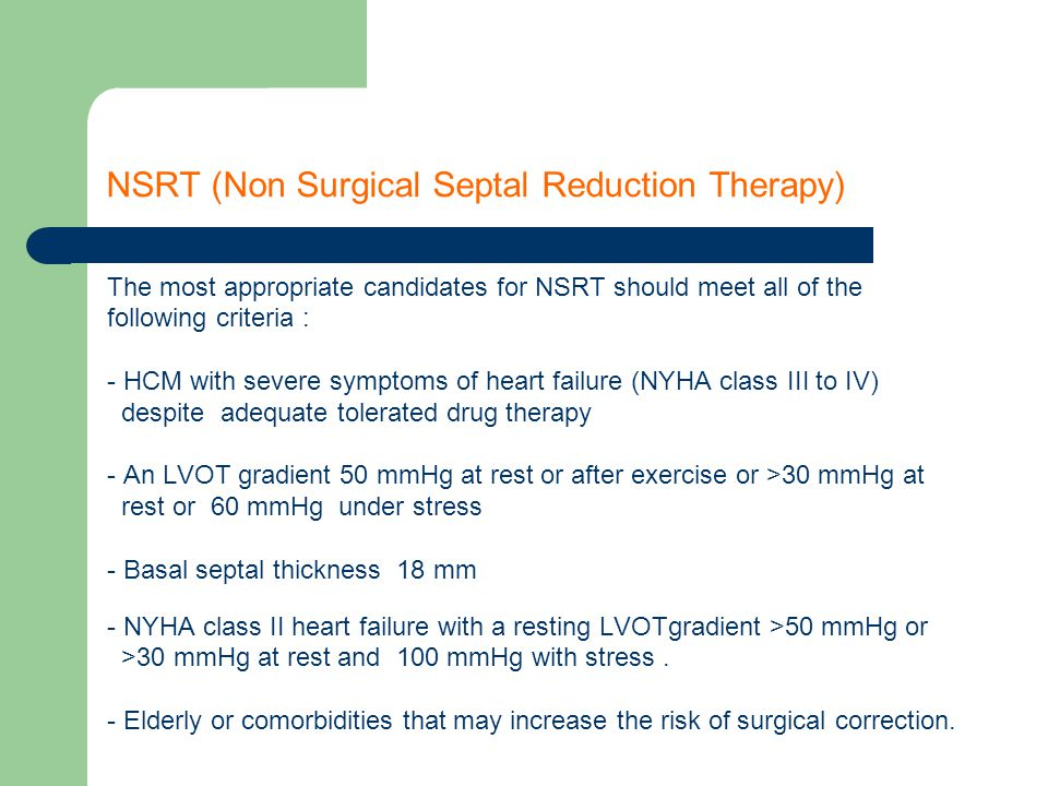 NSRT (Non Surgical Septal Reduction Therapy)