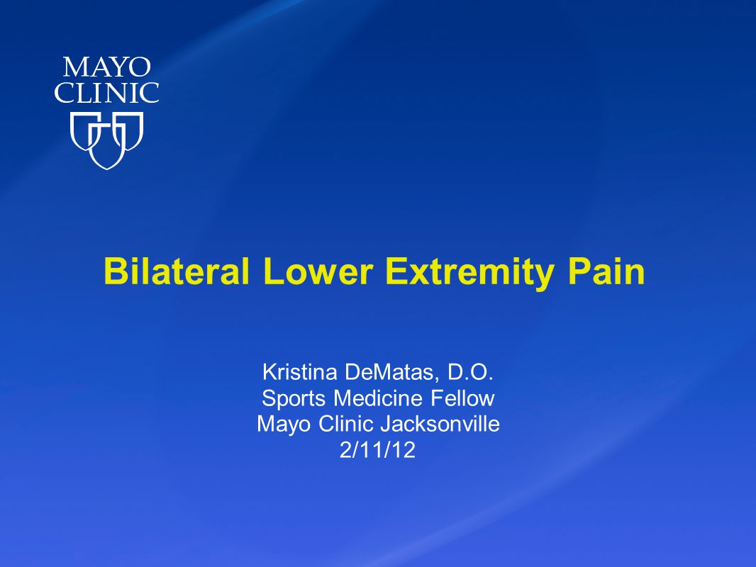 Bilateral Lower Extremity Pain