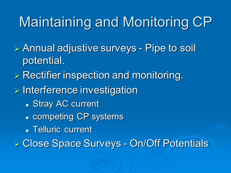 Maintaining and Monitoring CP