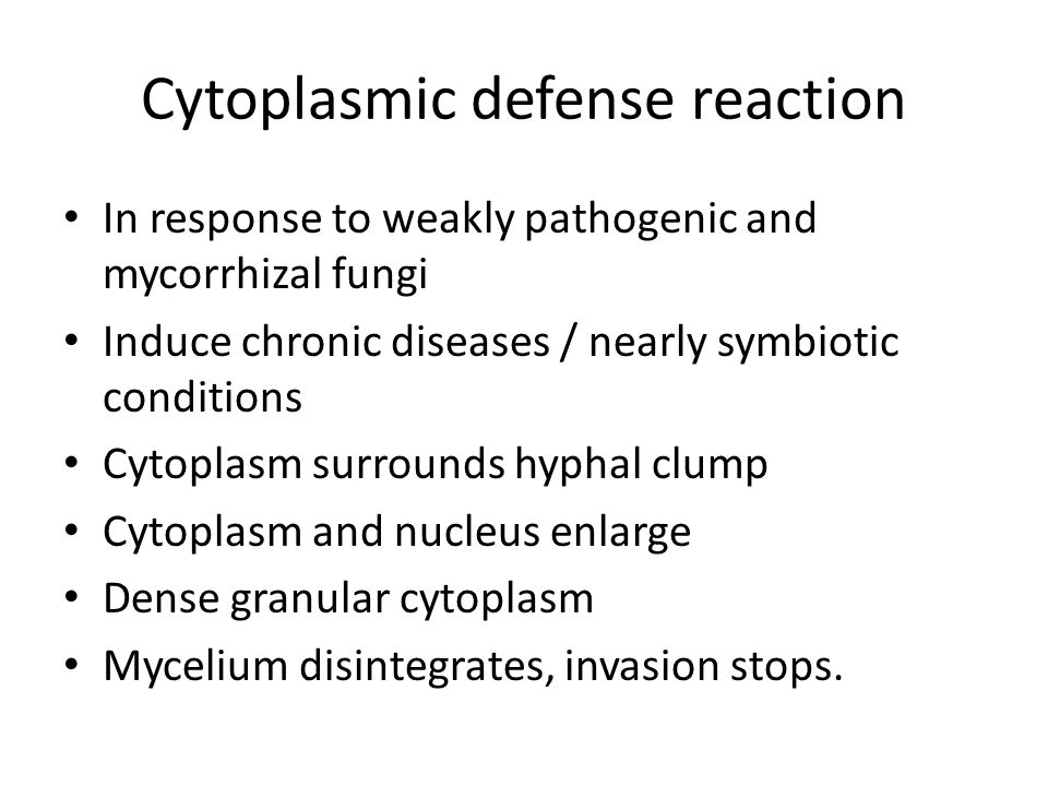 Cytoplasmic defense reaction