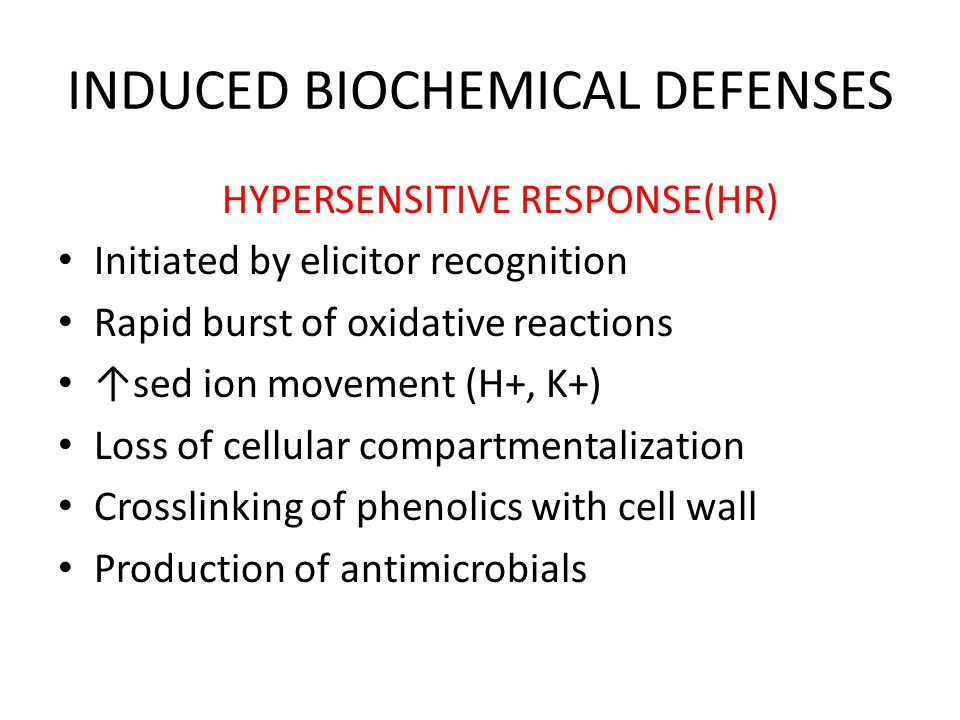 INDUCED BIOCHEMICAL DEFENSES