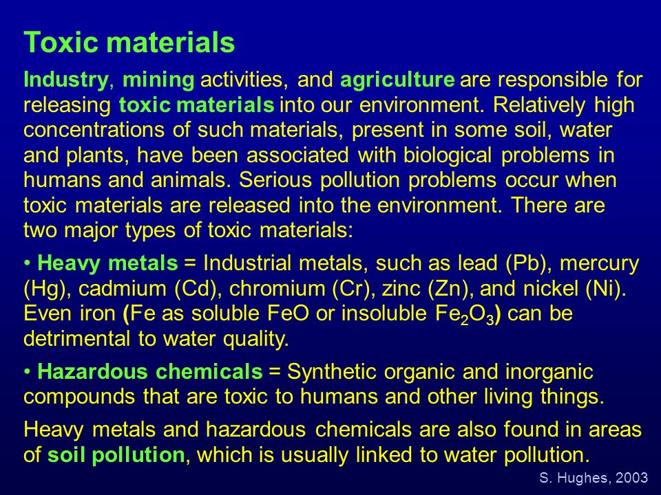 Toxic materials