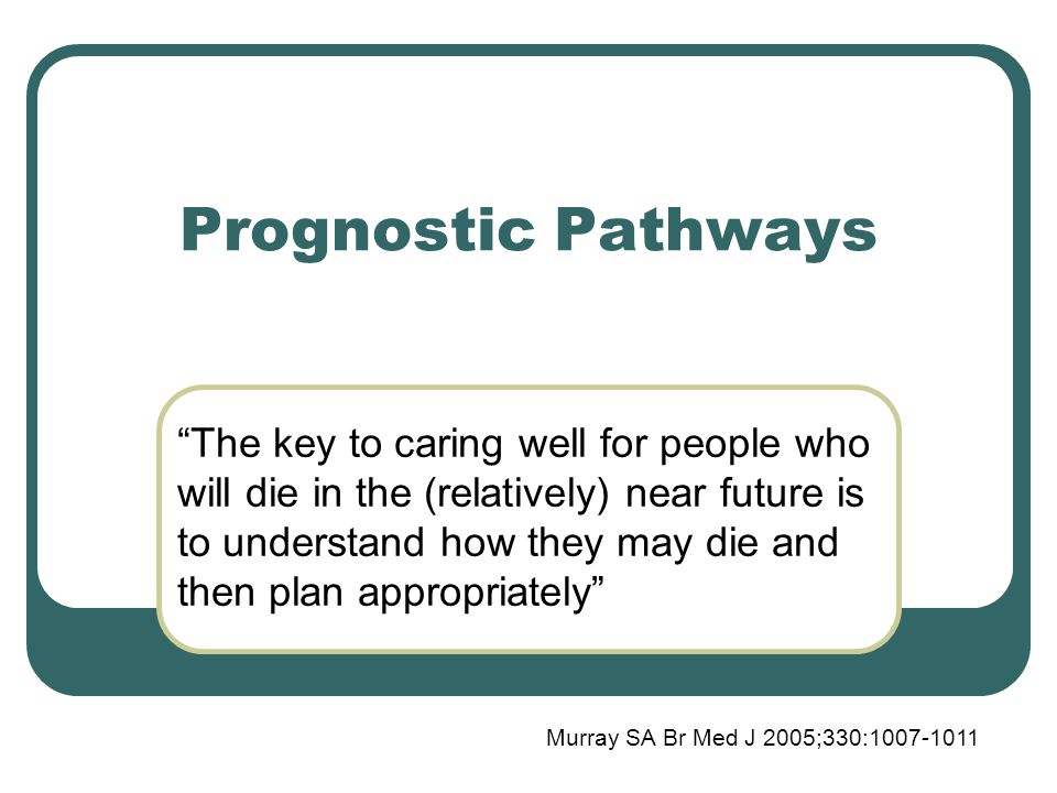 Prognostic Pathways