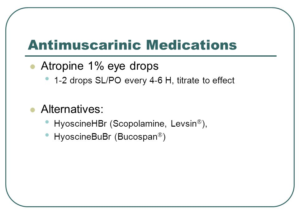 Antimuscarinic Medications