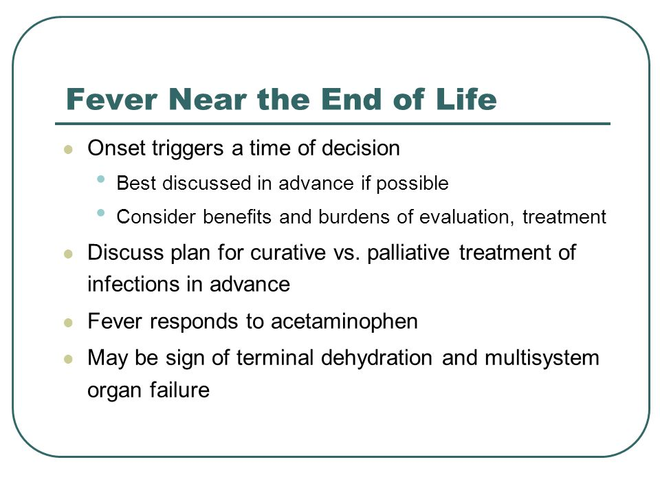 Fever Near the End of Life
