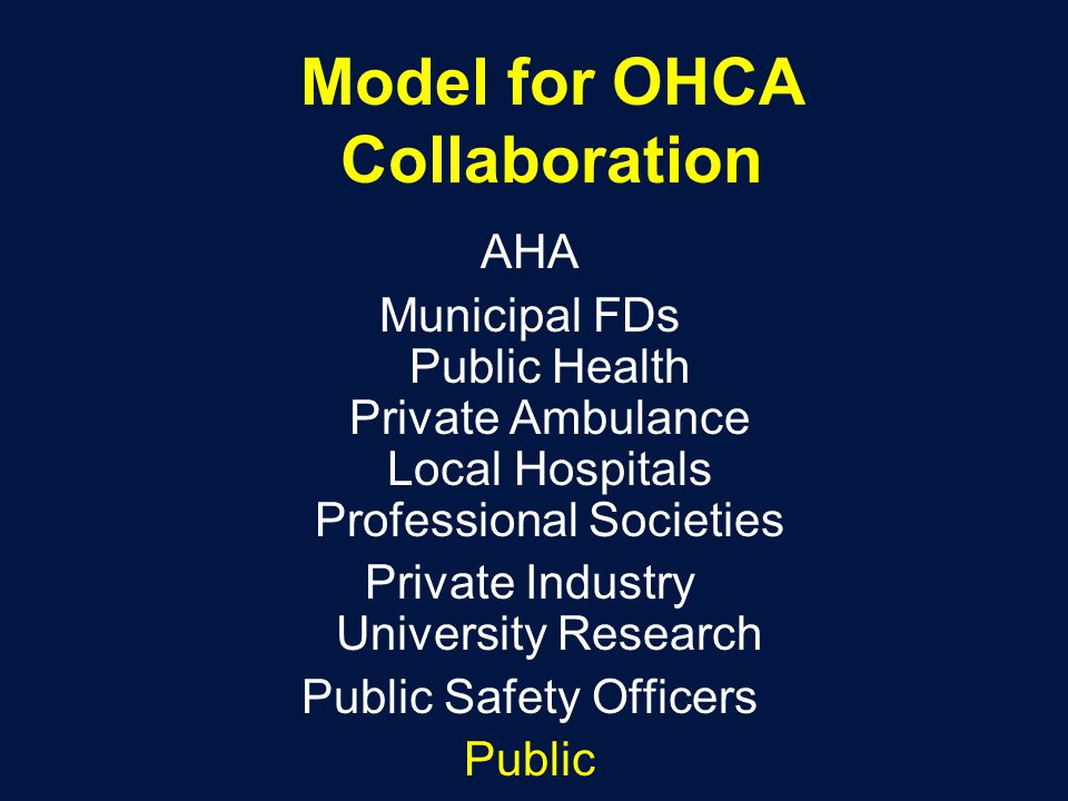 Model for OHCA Collaboration