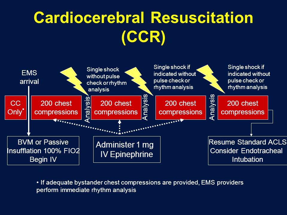 Cardiocerebral Resuscitation (CCR)