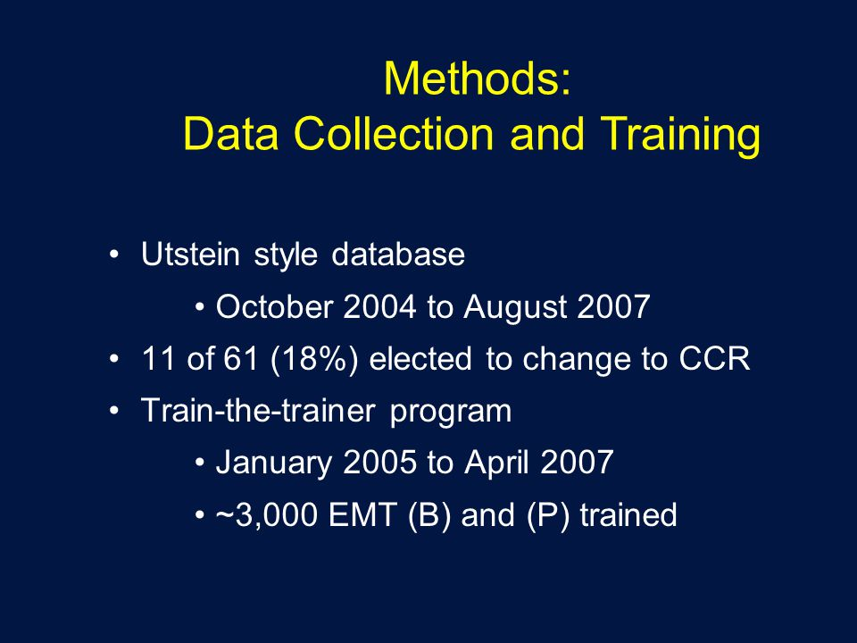 Methods: Data Collection and Training