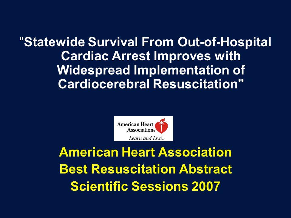 American Heart Association Best Resuscitation Abstract