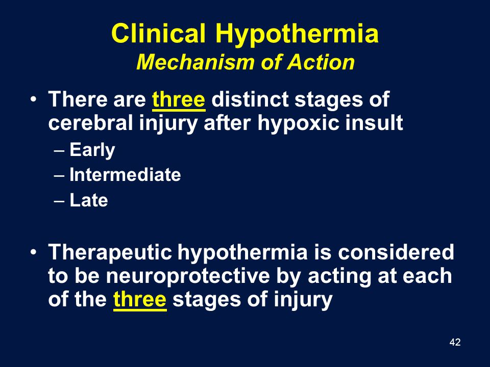 Clinical Hypothermia Mechanism of Action