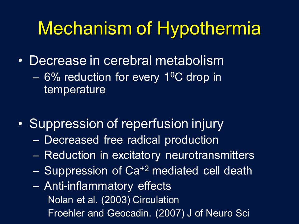 Mechanism of Hypothermia
