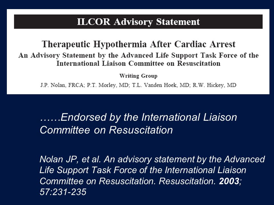 ……Endorsed by the International Liaison Committee on Resuscitation