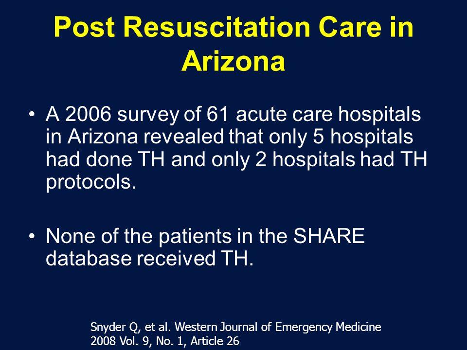 Post Resuscitation Care in Arizona