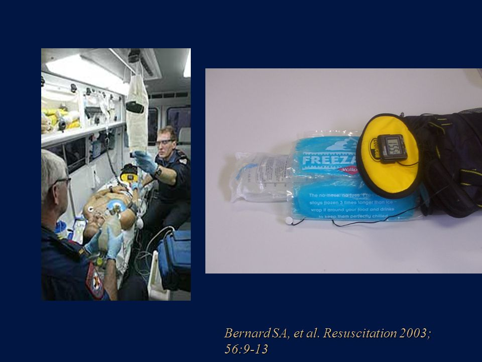 Bernard SA, et al. Resuscitation 2003; 56:9-13